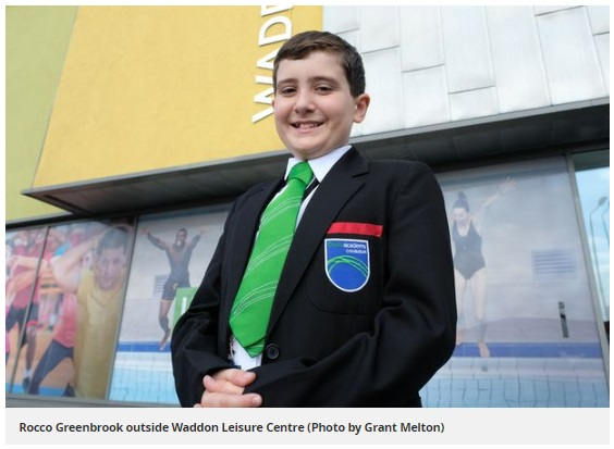 Half-term hero as Coulsdon pupil helps child swimmer in distress